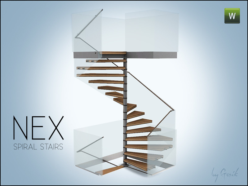 Best ideas about Spiral Staircase Sims 4 . Save or Pin Gosik s Nex square spiral stairs Now.