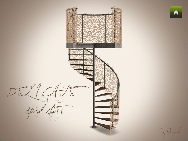 Best ideas about Spiral Staircase Sims 4 . Save or Pin Gosik s Delicate Spiral Stairs Now.