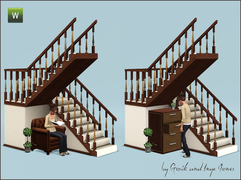 Best ideas about Spiral Staircase Sims 4 . Save or Pin Gosik s Cottage half landing stairs Now.