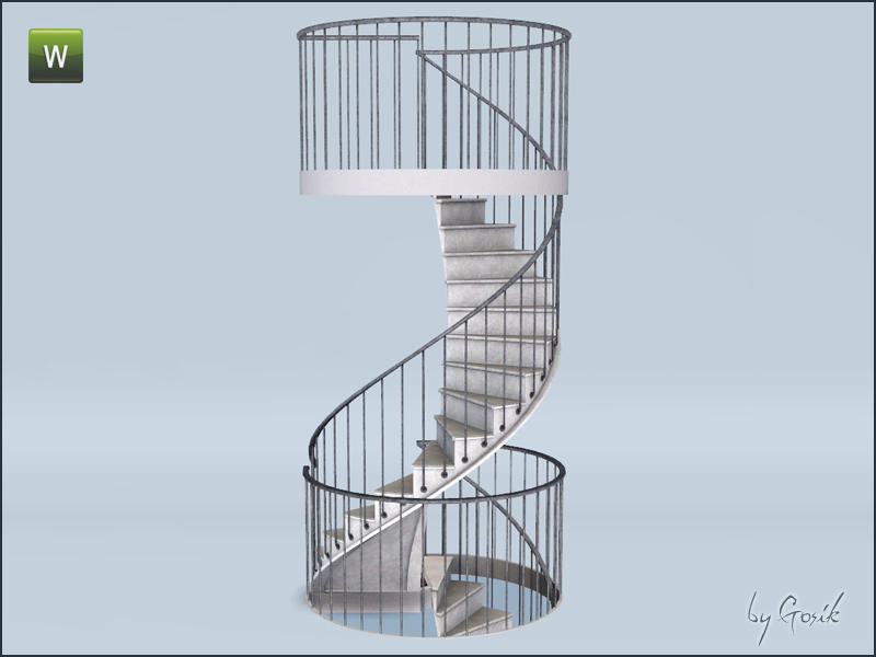 Best ideas about Spiral Staircase Sims 4 . Save or Pin Gosik s Urban spiral stairs and railings Now.