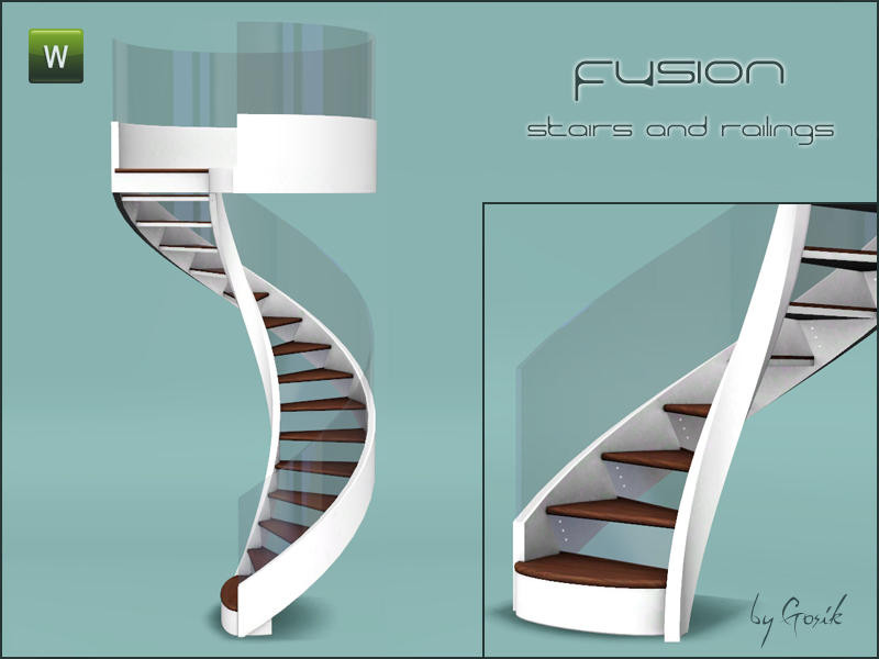 Best ideas about Spiral Staircase Sims 4 . Save or Pin Gosik s Fusion spiral stairs and railings Now.