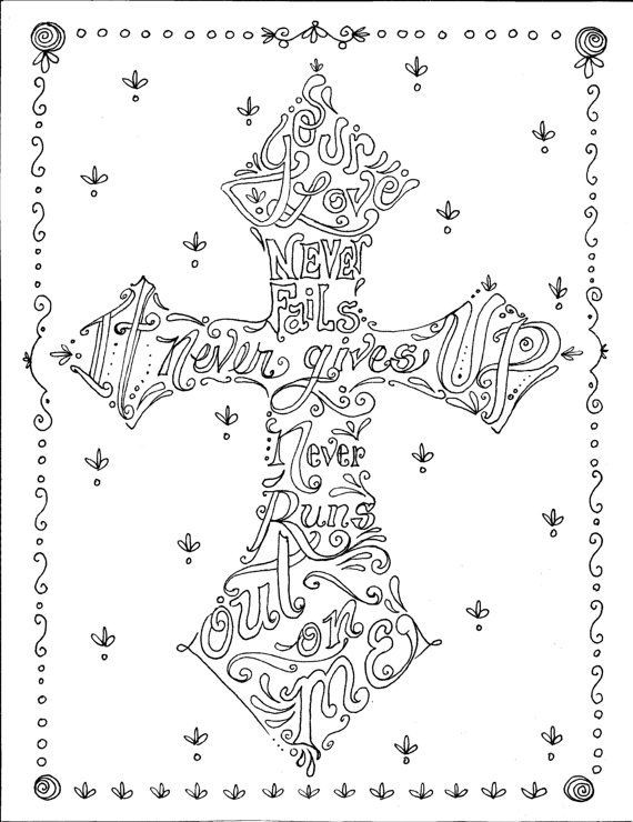 Best ideas about Spiritual Coloring Pages For Adults . Save or Pin Coloring Book of Crosses Christian Art to Color and Create Now.