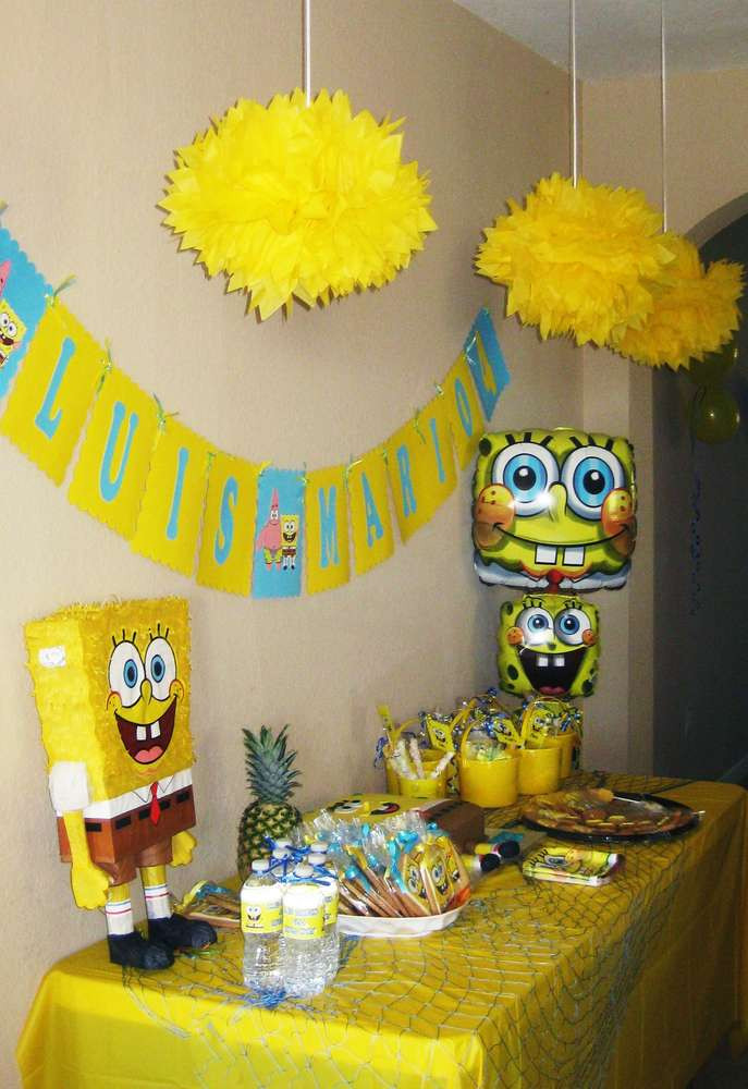 Best ideas about Spongebob Birthday Decorations . Save or Pin Spongebob Square Pants Birthday Party Ideas Now.