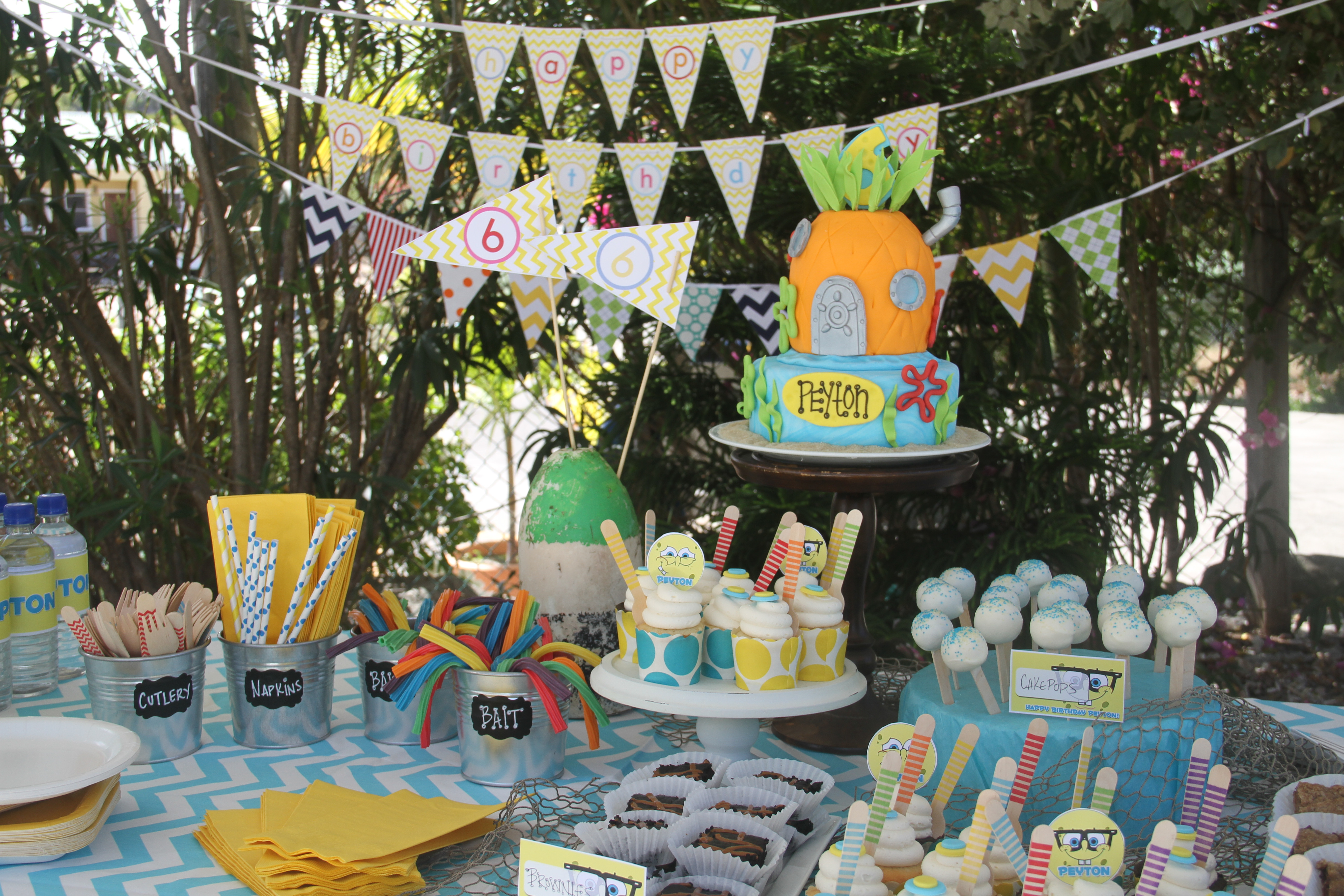 Best ideas about Spongebob Birthday Decorations . Save or Pin mylittlebeanco Now.