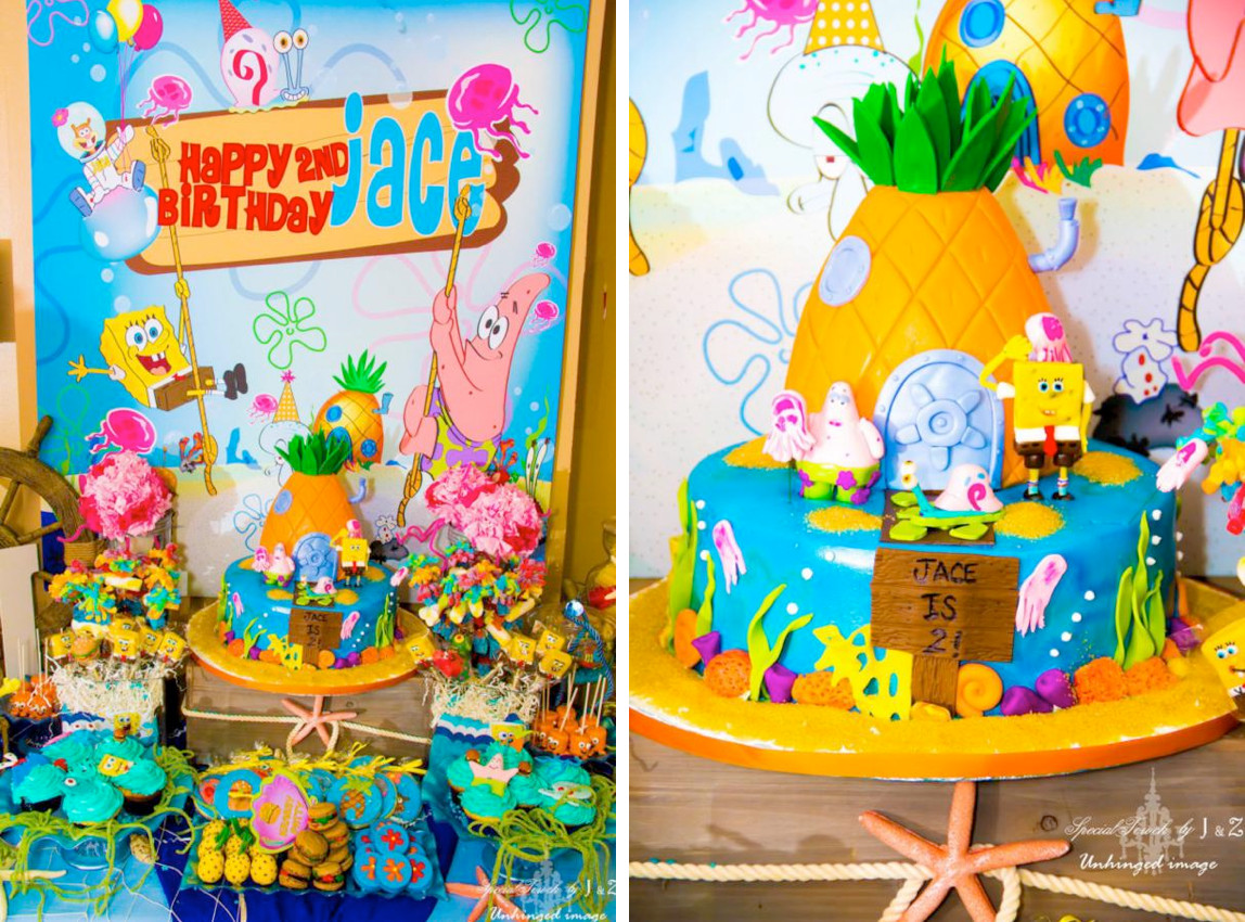 Best ideas about Spongebob Birthday Decorations . Save or Pin Kara s Party Ideas Spongebob Squarepants Under the Sea 2nd Now.