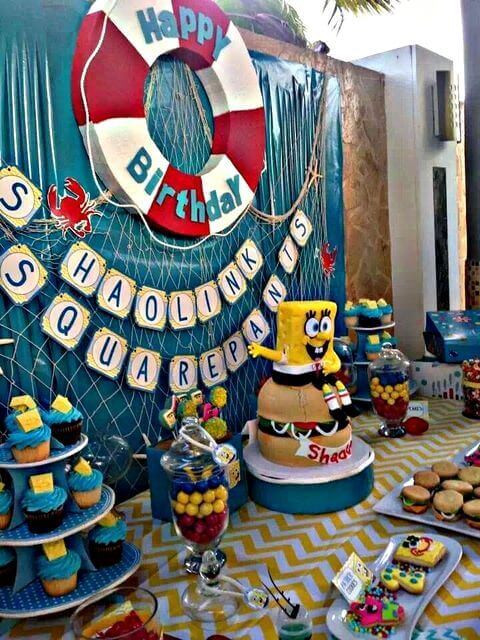 Best ideas about Spongebob Birthday Decorations . Save or Pin 19 SpongeBob SquarePants Birthday Party Ideas Spaceships Now.