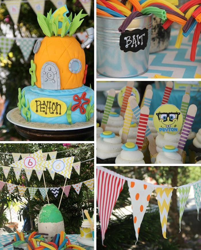 Best ideas about Spongebob Birthday Decorations . Save or Pin Kara s Party Ideas Spongebob Birthday Party Planning Ideas Now.