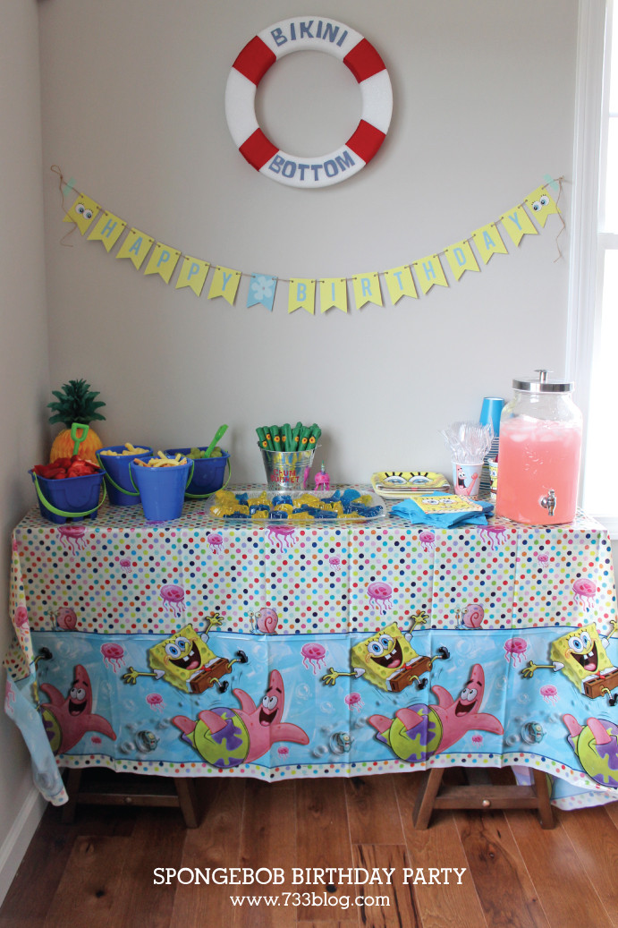 Best ideas about Spongebob Birthday Decorations . Save or Pin Spongebob Squarepants Birthday Party Inspiration Made Simple Now.