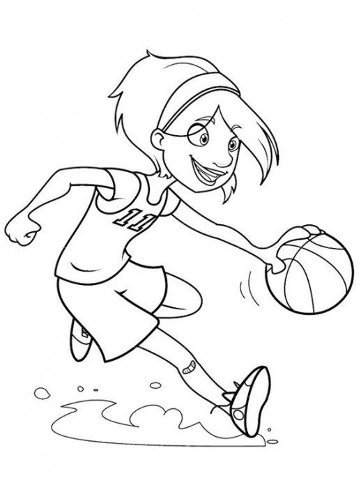 Best ideas about Sports Coloring Pages For Girls . Save or Pin Girls Playing Basketball Coloring Pages Now.