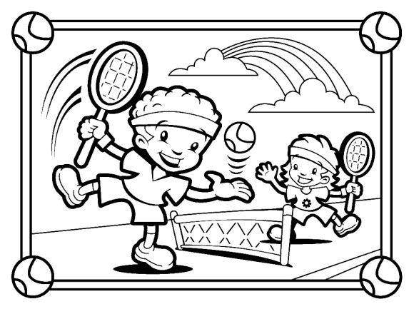 Best ideas about Sports Coloring Pages For Girls . Save or Pin Tennis Colouring Tennis Coloring Pages Girl Playing Now.