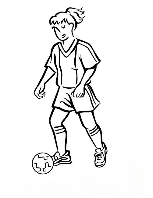 Best ideas about Sports Coloring Pages For Girls . Save or Pin usa women s soccer coloring pages woman Now.