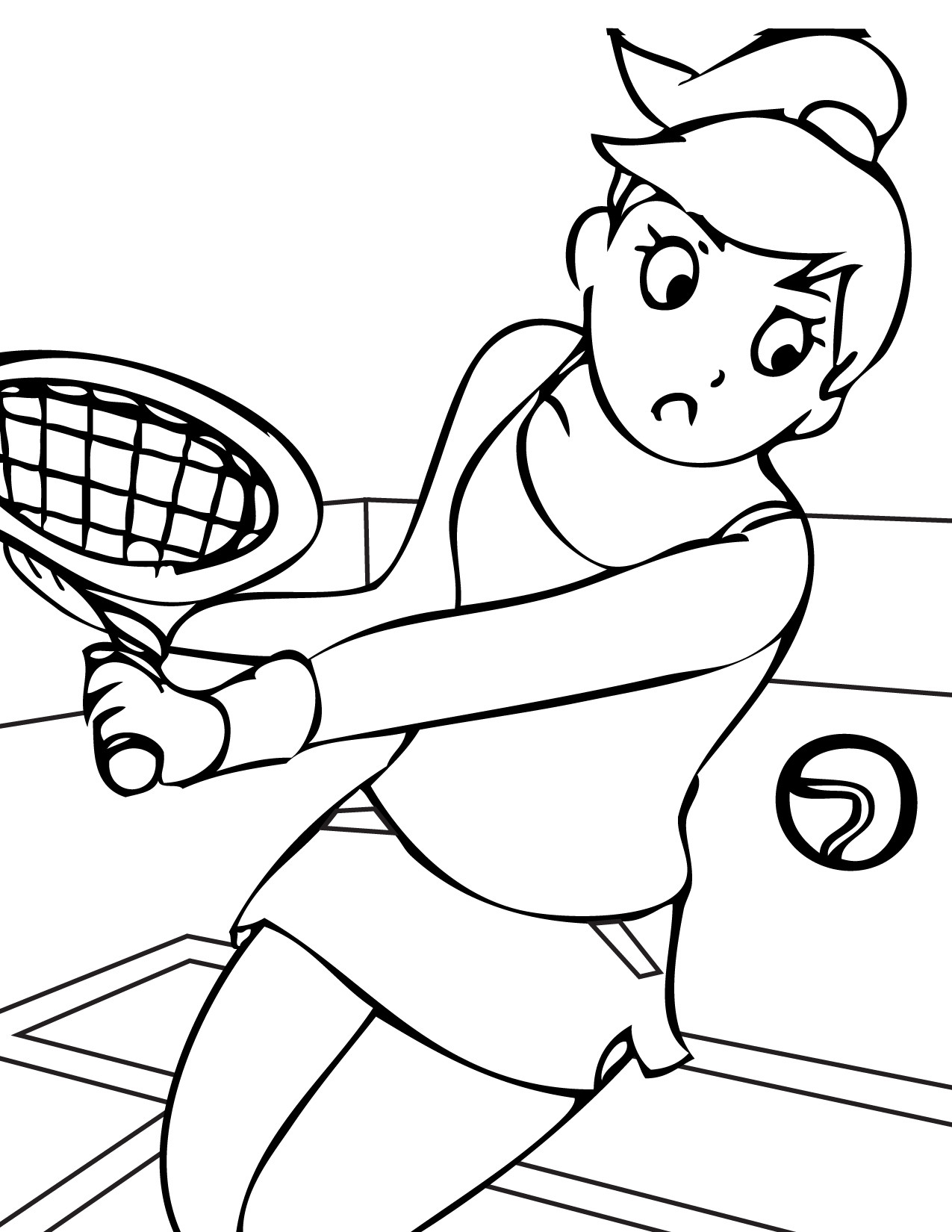 Best ideas about Sports Coloring Pages For Girls . Save or Pin Tennis Sports Coloring pages for GIRLS Free Printable Now.
