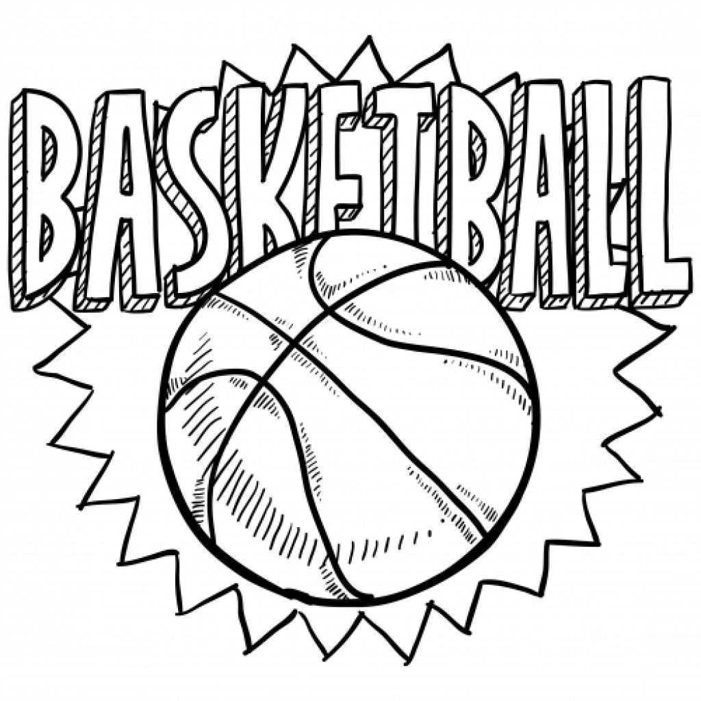 Best ideas about Sports Printable Coloring Pages . Save or Pin Free Coloring Sheet Basketball For Kindergarten Now.