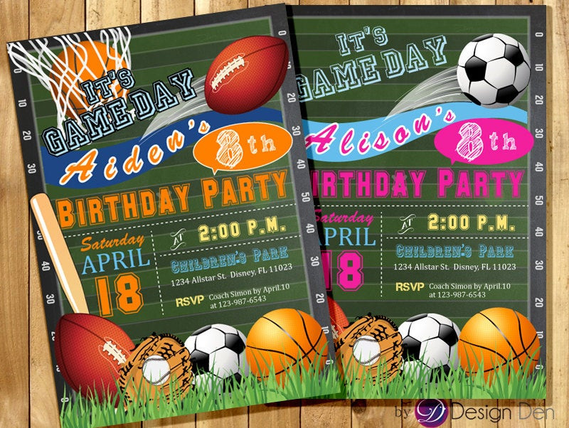 Best ideas about Sports Themed Birthday Invitations . Save or Pin All Star Invitation Sports Theme Boys or Girls Sports Now.