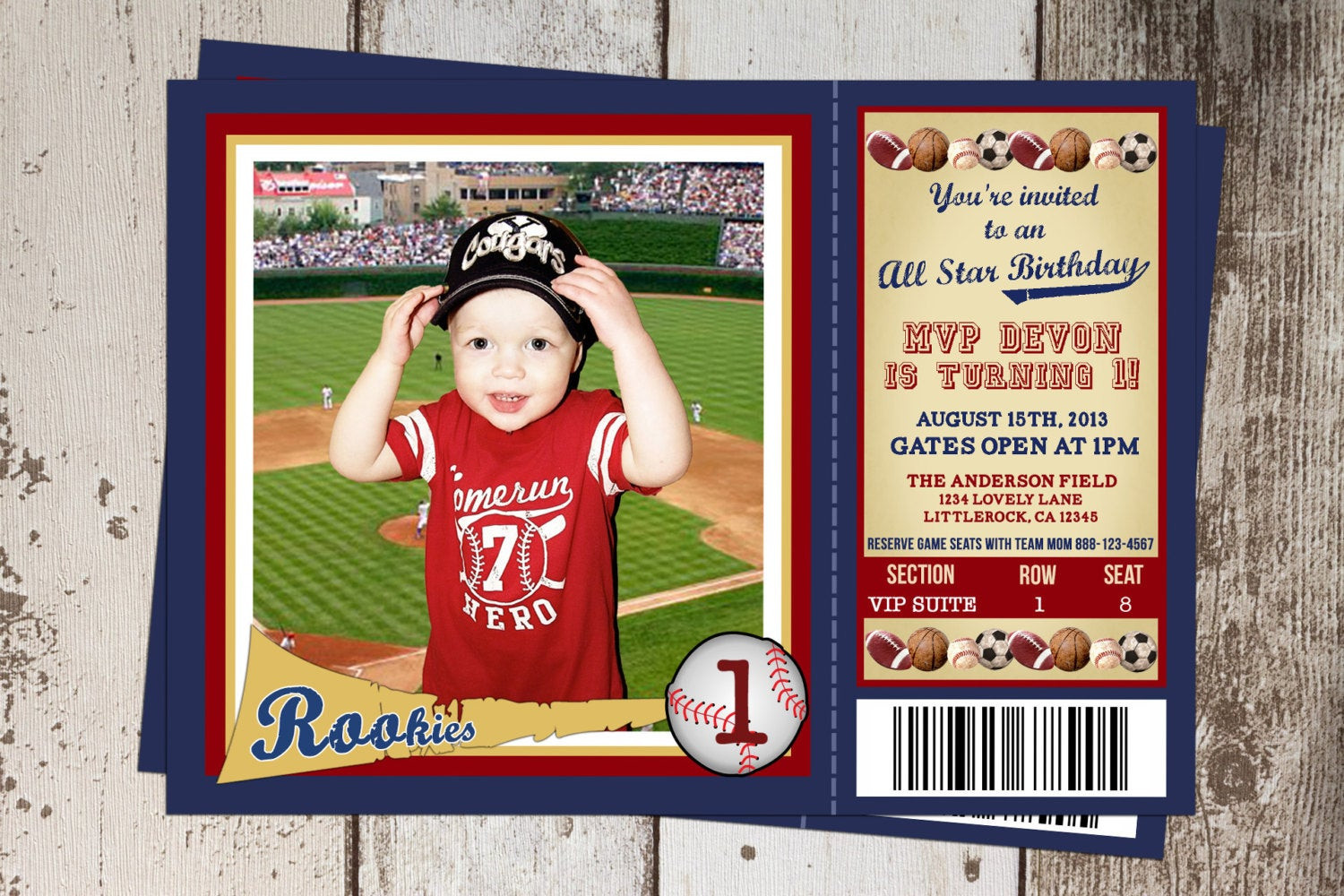 Best ideas about Sports Themed Birthday Invitations . Save or Pin All Sports Ticket Birthday Invitation All Star Sports theme Now.