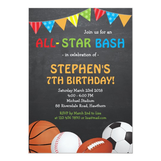 Best ideas about Sports Themed Birthday Invitations . Save or Pin Sports Birthday Invitation Sports Invitation Now.