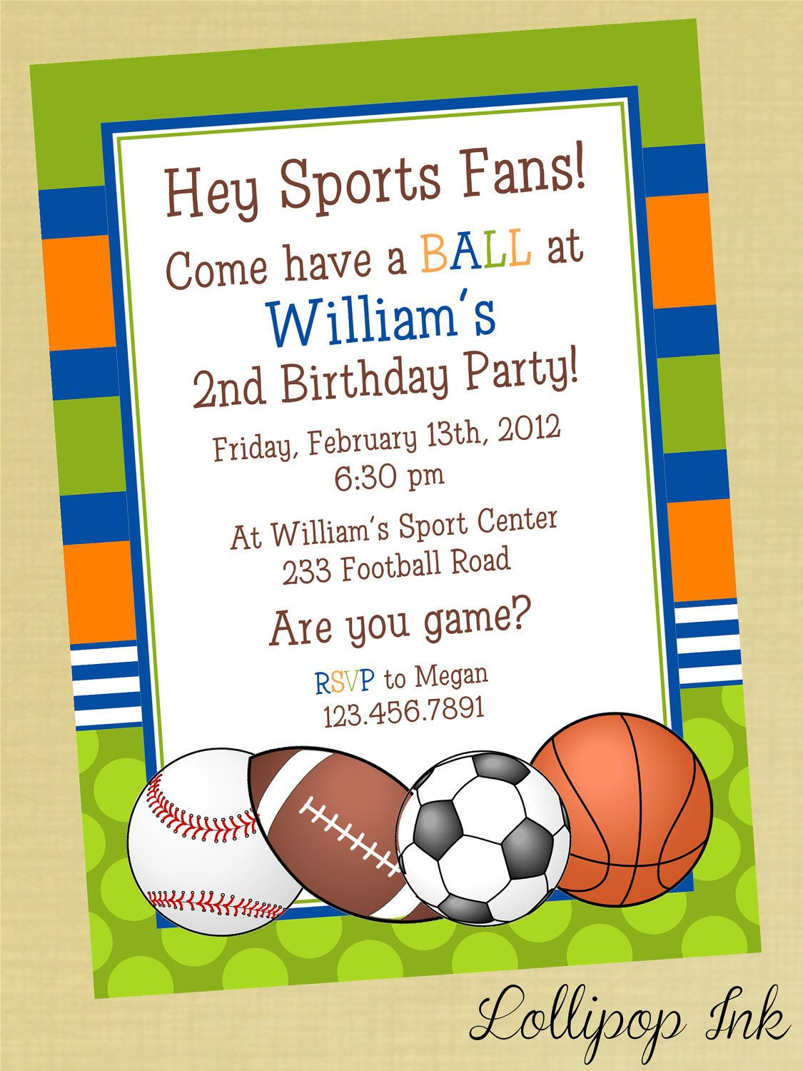 Best ideas about Sports Themed Birthday Invitations . Save or Pin Sports Printable Birthday Invitation Personalized Sports Now.