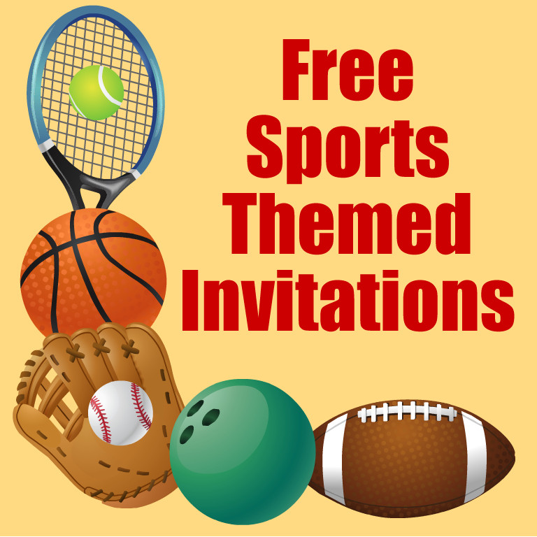 Best ideas about Sports Themed Birthday Invitations . Save or Pin Free Printable Sports Birthday Party Invitations Templates Now.