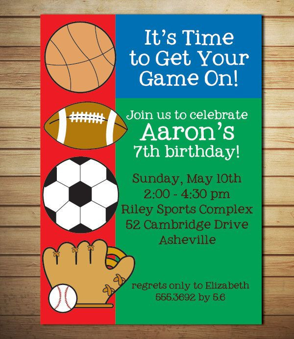 Best ideas about Sports Themed Birthday Invitations . Save or Pin Cool FREE Template Sports Themed Birthday Party Now.