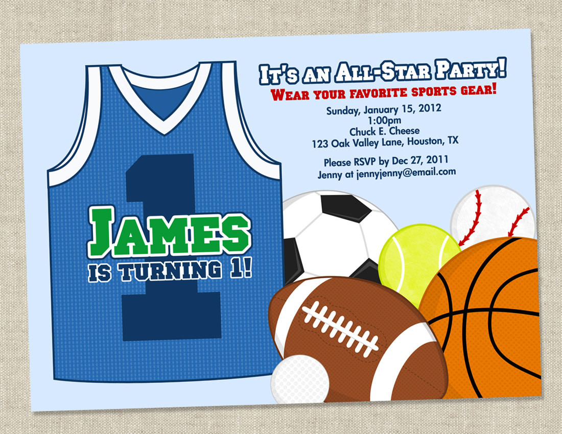 Best ideas about Sports Themed Birthday Invitations . Save or Pin Sports Themed Birthday Party Invitations Now.