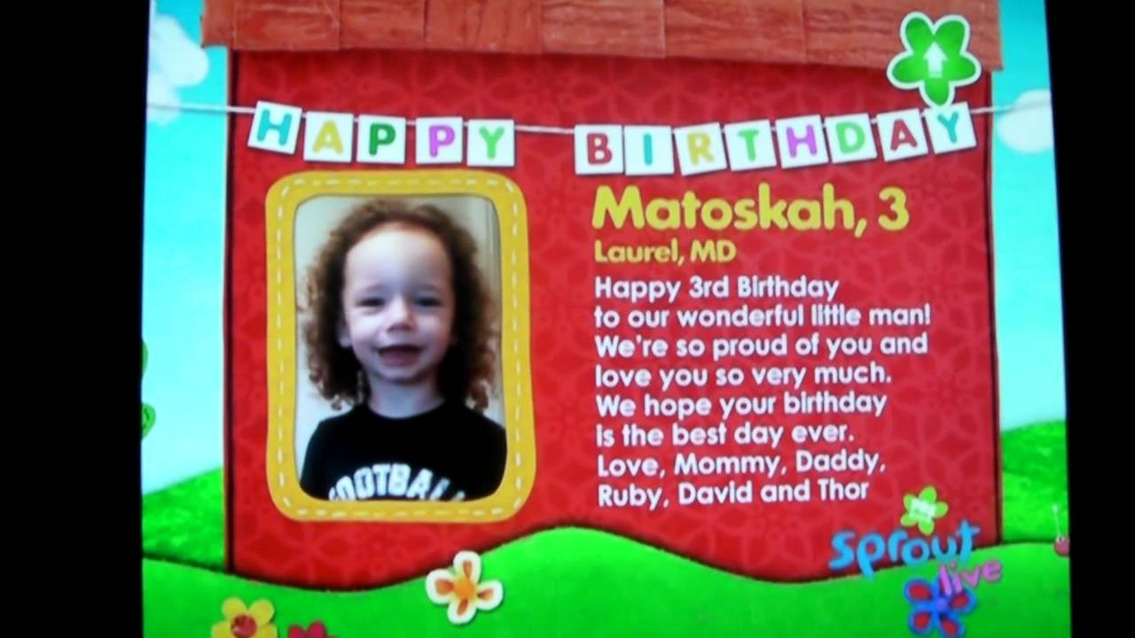 Best ideas about Sprout Birthday Wishes . Save or Pin Matoskah 3rd Birthday Sprout Wishes Now.