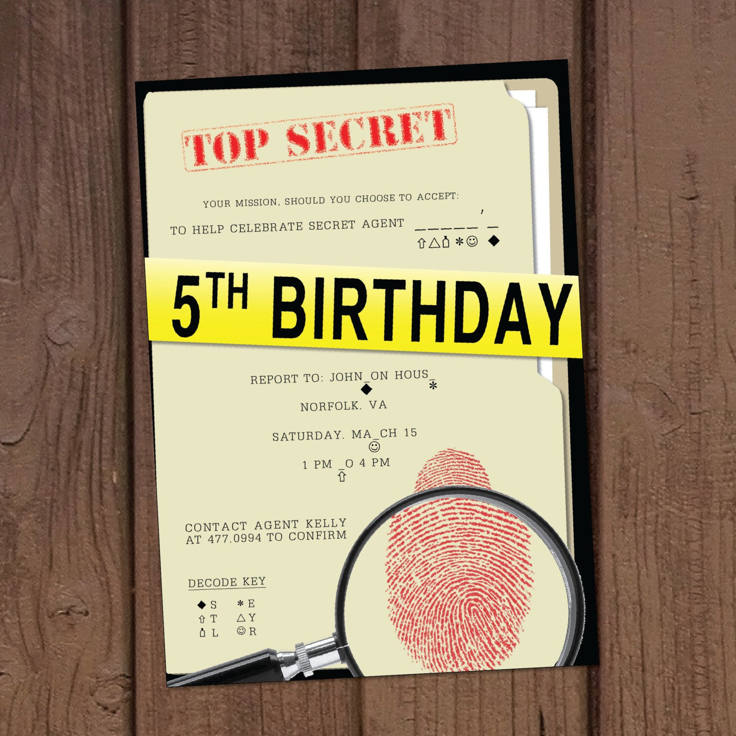 Best ideas about Spy Birthday Party . Save or Pin Secret Agent Spy Birthday Party Invitation Now.