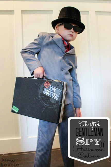 Best ideas about Spy Costume DIY . Save or Pin Thrifted Gentleman Spy DIY Halloween Costume The Happy Now.