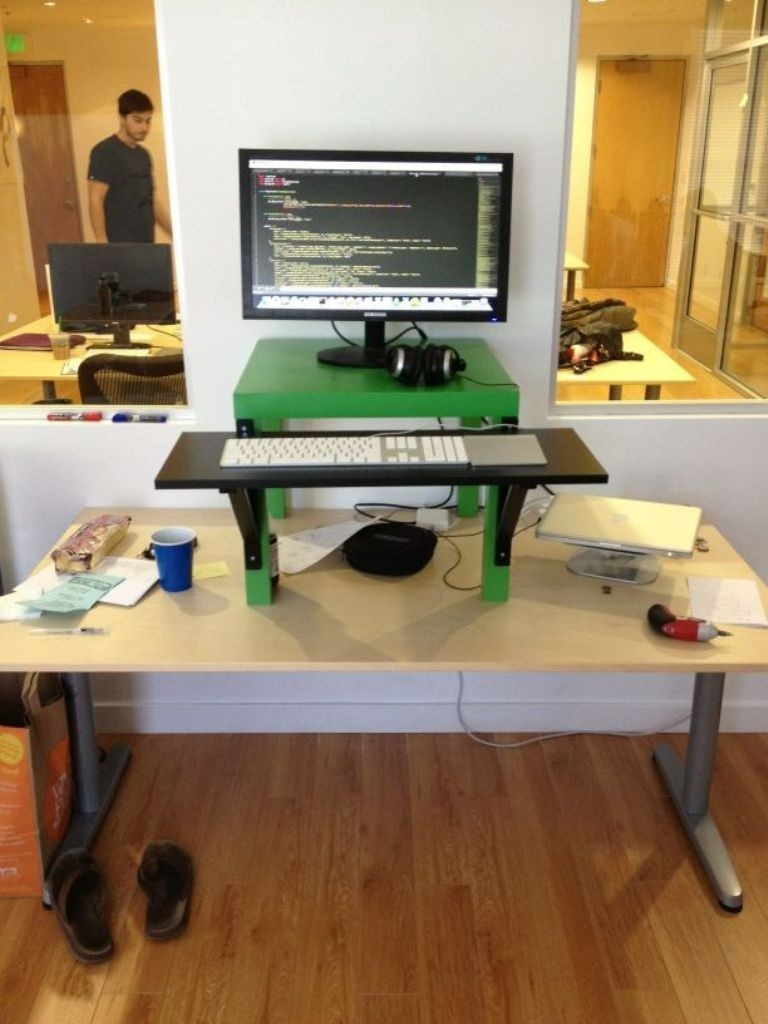Best ideas about Standing Desk Converter DIY . Save or Pin Modern Stand Up Desk Converter Now.