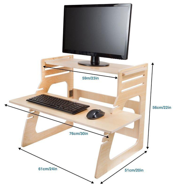 Best ideas about Standing Desk Converter DIY . Save or Pin Image result for diy adjustable standing desk converter Now.