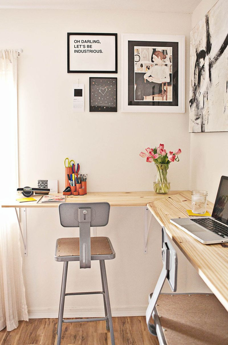 Best ideas about Standing Desks DIY . Save or Pin Building a Standing Desk – A Beautiful Mess Now.