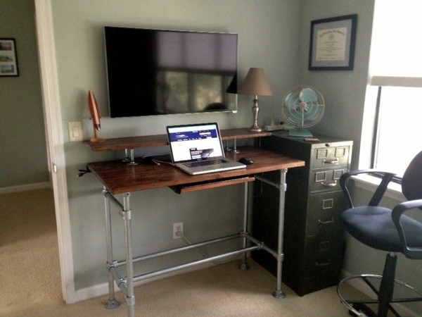 Best ideas about Standing Desks DIY . Save or Pin 37 DIY Standing Desks Built with Pipe and Kee Klamp Now.