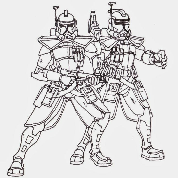Best ideas about Star Wars Clone Wars Coloring Pages . Save or Pin printable coloring pages star wars clone troopers Now.