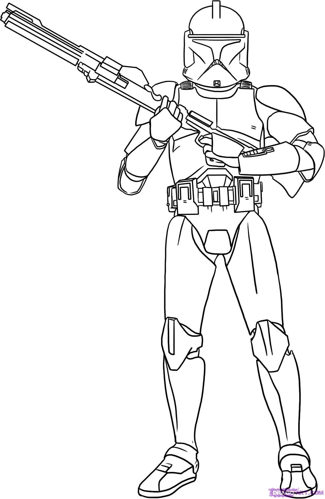 Best ideas about Star Wars Clone Wars Coloring Pages . Save or Pin star wars pictures to color Now.