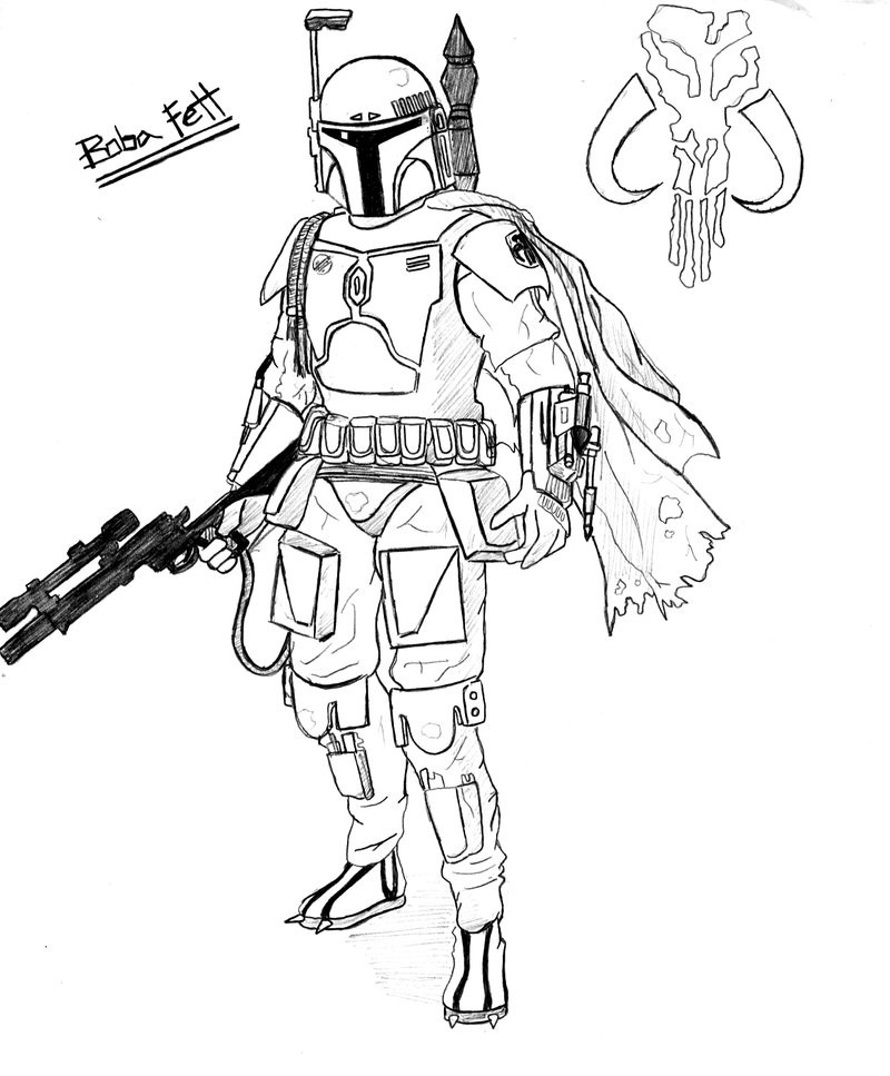 Best ideas about Star Wars Clone Wars Coloring Pages . Save or Pin Star Wars Coloring Pages Boba Fett AZ Coloring Pages Now.