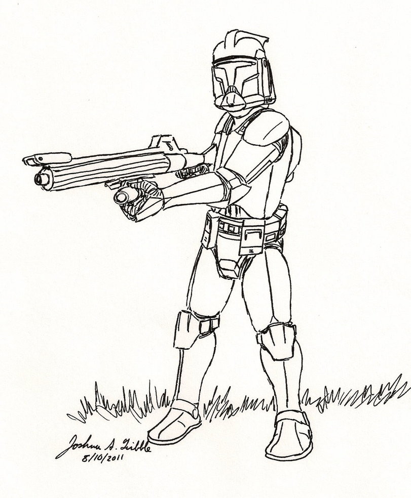 Best ideas about Star Wars Clone Wars Coloring Pages . Save or Pin Star Wars Drawings of Clones images Now.