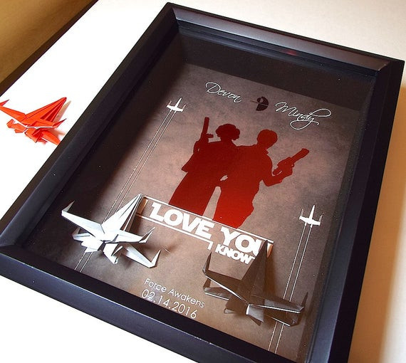 Best ideas about Star Wars Gift Ideas For Him . Save or Pin Star Wars I Love You I Know Boyfriend Gift Husband Gift Now.