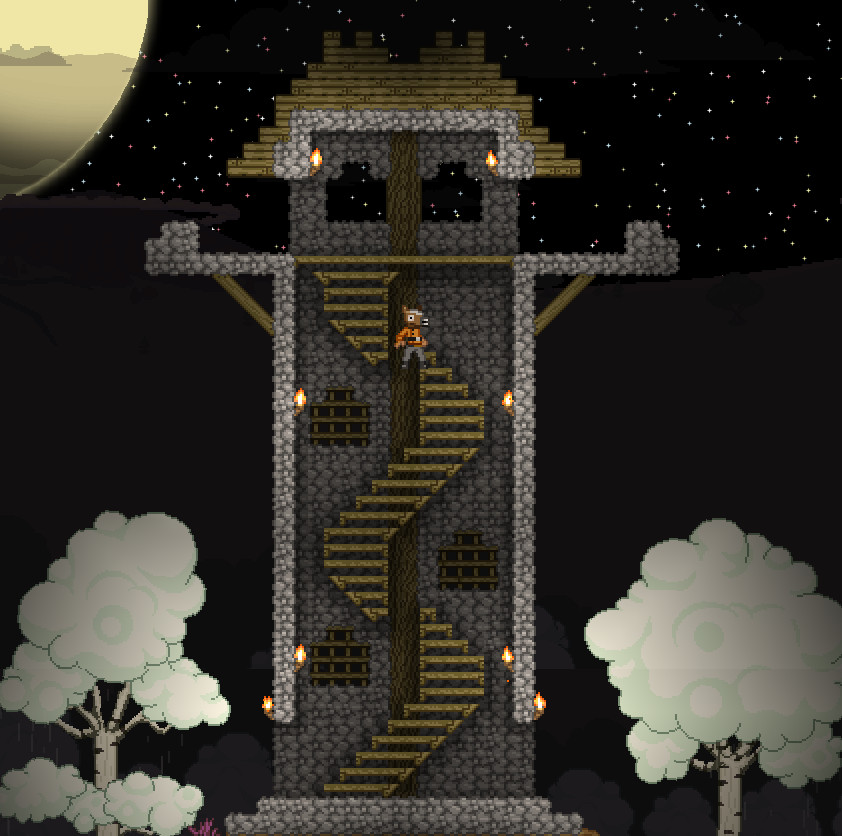 Best ideas about Starbound Spiral Staircase . Save or Pin My Watchtower starbound Now.