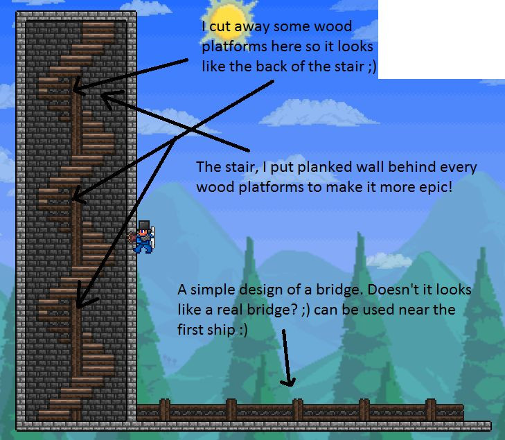 Best ideas about Starbound Spiral Staircase . Save or Pin awesome stairs and a fence terraria Pinterest Now.