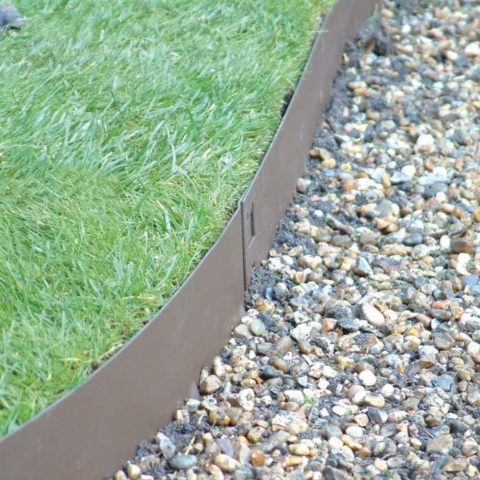 Best ideas about Steel Landscape Edging . Save or Pin Brown Flexible Steel Lawn Edging Harrod Horticultural UK Now.
