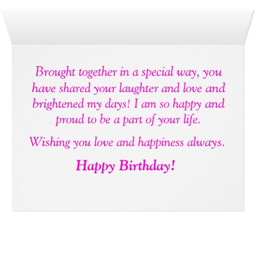 Best ideas about Step Daughter Birthday Wishes . Save or Pin Step Daughter Birthday Card Now.