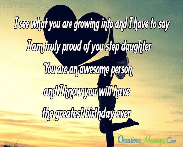 Best ideas about Step Daughter Birthday Wishes . Save or Pin Step Daughter Birthday Wishes Occasions Messages Now.
