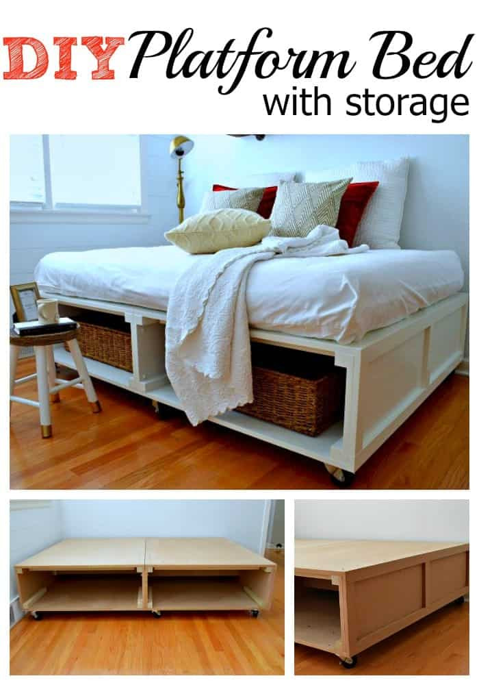 Best ideas about Storage Beds DIY . Save or Pin How to Build a DIY Platform Bed with Storage Now.