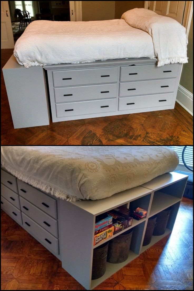 Best ideas about Storage Beds DIY . Save or Pin 25 best ideas about Dresser Bed on Pinterest Now.