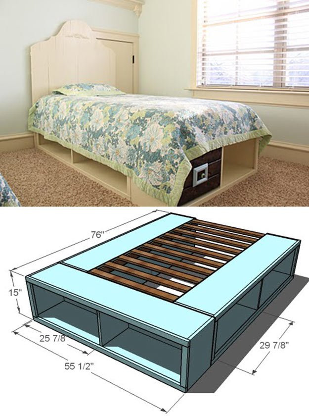 Best ideas about Storage Beds DIY . Save or Pin DIY Platform Bed Ideas Now.