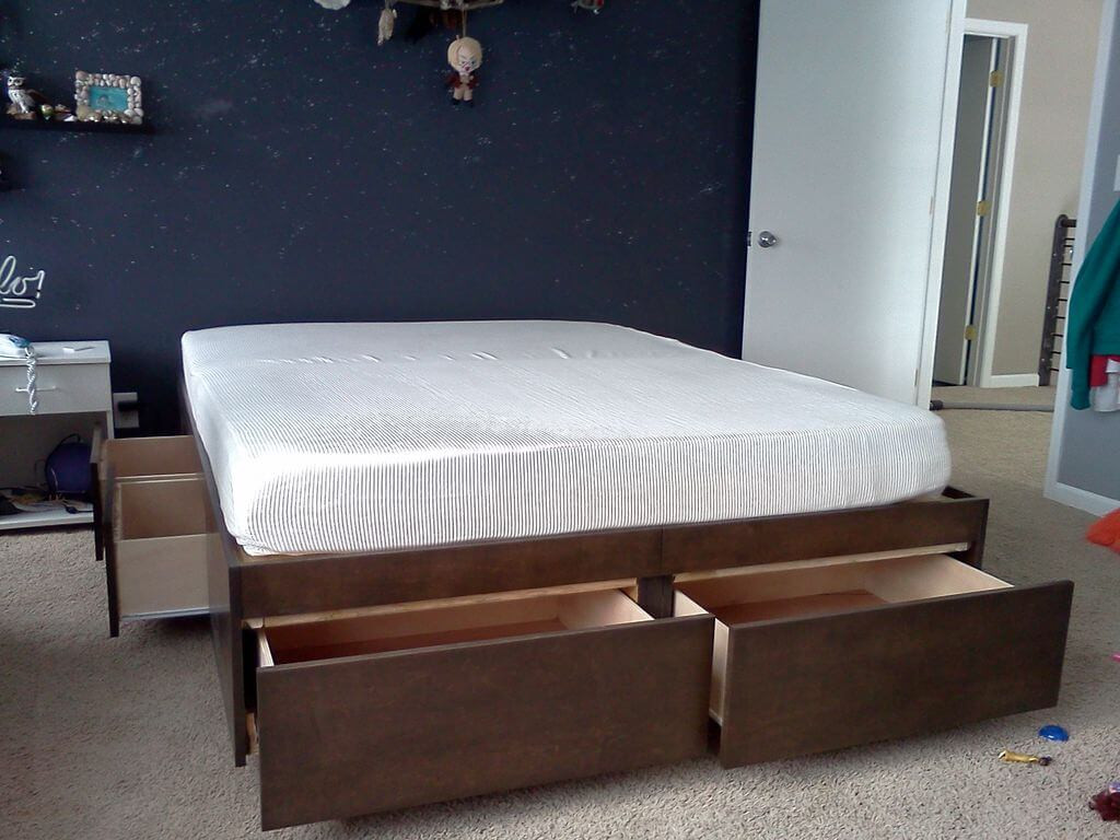 Best ideas about Storage Beds DIY . Save or Pin How To Build A DIY Bed With Loads Storage Now.