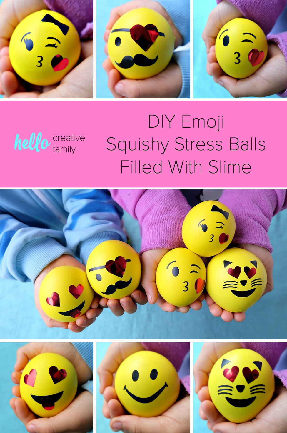 Best ideas about Stress Balls DIY . Save or Pin DIY Emoji Squishy Stress Balls Filled With Slime Hello Now.