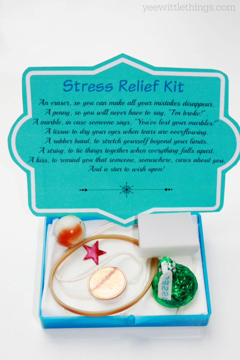 Best ideas about Stress Relief Gifts Unique Gift Ideas . Save or Pin DIY Stress Relief Kit Now.