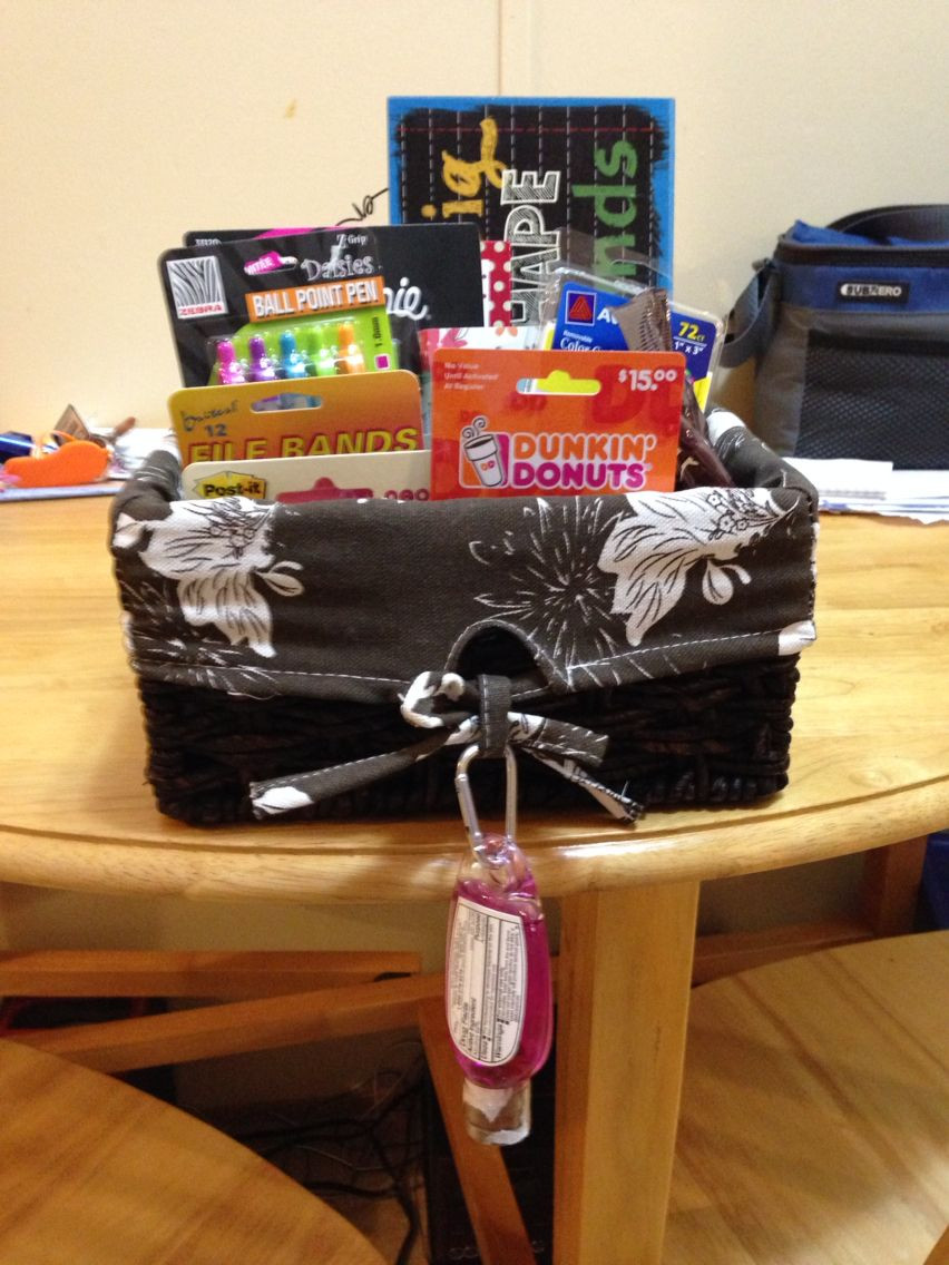 Best ideas about Student Teacher Gift Ideas . Save or Pin Gift basket I made for my cooperating teacher on my last Now.
