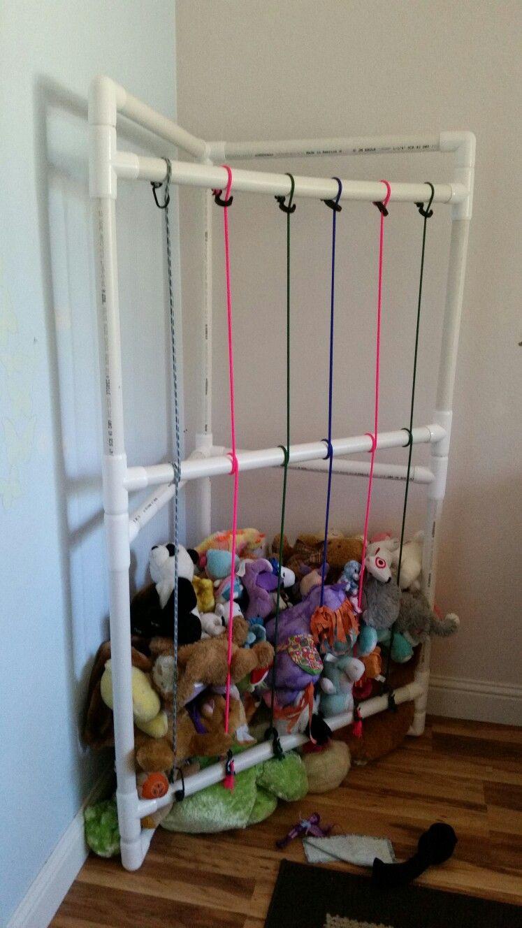Best ideas about Stuffed Animal Storage Ideas . Save or Pin PVC Stuffed animal storage Now.