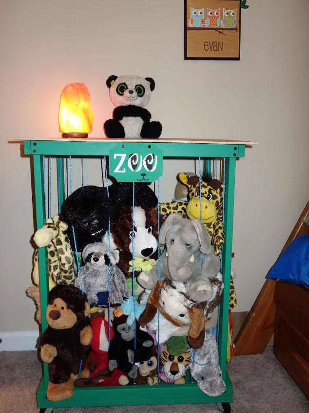 Best ideas about Stuffed Animal Storage Ideas . Save or Pin Zoo Stuffed Animal Storage side Table Organization Now.